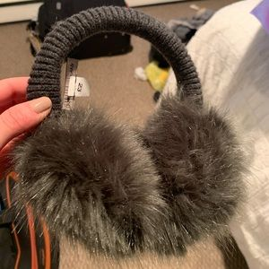 NWT furry ear muffs banana republic